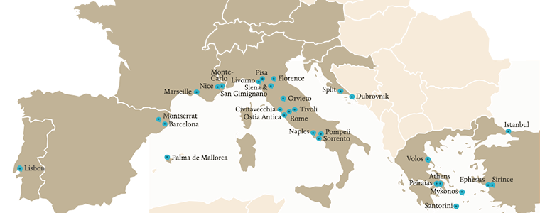 Map of Destinations